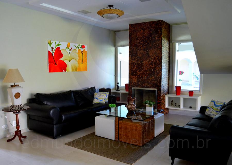 Casa 221 – Living com Lareira